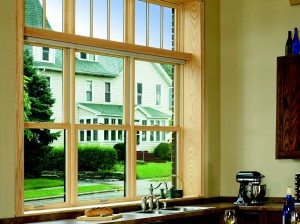 Infinity Double Hung Kitchen Windows with Transom
