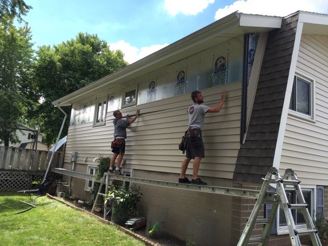 Seamless Siding installation